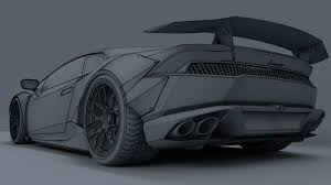 car lamborghini drawing lamborghini huracan liberty walk 3d cgtrader