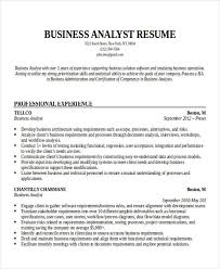Business Resumes Examples by Example Of Business Analyst Resume