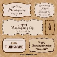 thanksgiving day stickers vector free