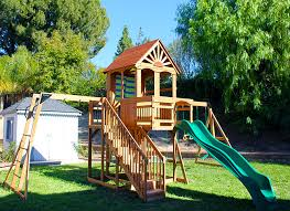 Backyard Swing Sets For Kids by Getting Outside With Our Oceanview Wooden Swing Set And Giveaway