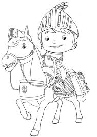 mike knight coloring pages kolorowanka bajki rycerz mike
