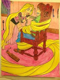 tangled coloring book i like to think children made these album on imgur