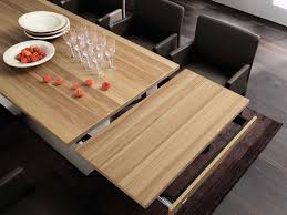 table with slide out leaves furniture beautiful italian designer modern pull out leaf
