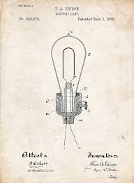 edison light bulb invention edison light bulb patent art drawing by stephen chambers