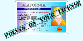 red light ticket points points on your license california vc violations