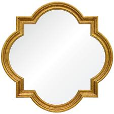 gold leaf home decor grove hollywood regency antique gold leaf quatrefoil mirror