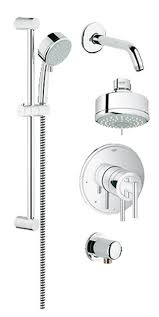 Bathroom Shower Set Faucet 35055000 In Starlight Chrome By Grohe