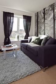 Black Sheer Curtains Living Room With Black Sheer Curtains And Half Wallpaper