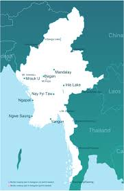 Map Of Nepal And Surrounding Countries by Arriving And Departing From Myanmar Burma Over Land Go Myanmar Com