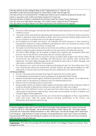 One Day Resume Resume For Krishna Safety Manager