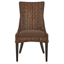 home decorators collection genie brown weave wicker dining chair