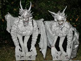 gargoyle costume gargoyles perched on pedestal costumes