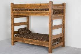 Barnwood Bunk Bed Solid Built Bunkbeds Cabin Bunk Beds - Pine bunk bed