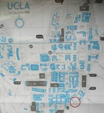 Ucla Botanical Garden Ucla S Map Of The Cus With The Garden Circled In Maroon