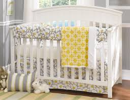 Grey And Yellow Crib Bedding Liz Roo Poppy Baby 4 Crib Bedding Set N Cribs