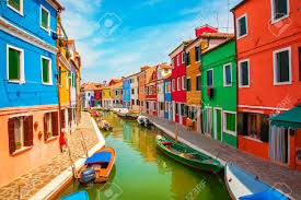 Burano Italy Burano An Island In The Venetian Lagoon Stock Photo Picture And