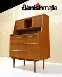 Secretary Desk Modern by Mid Century Danish Teak Secretary Desk Vanity Dresser Danish Mafia