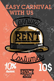 rent carnival color vintage carnival costumes rent banner royalty free cliparts