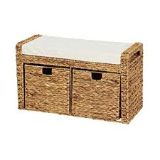 Cushioned Storage Bench Household Essentials Ml 6688 Entryway Cushioned Wicker