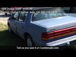 Dodge Spirit Plymouth Acclaim Chrysler 1994 Dodge Spirit Base 4dr Std Sedan For Sale In Sandersvill Youtube