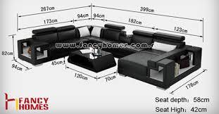 Aliant U Shape Leather Corner Sofa  Modular Lounge - Sofa bed modular lounge 2
