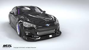 subaru frs white ml24 automotive design prototyping and body kits