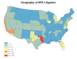 Study United States Map study exposes growing problem of patent aggregators and negative