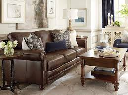Brown Leather Sofa And Loveseat Hamilton Sofa Leather Living Room Bassett Furniture