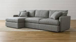 lounge ii steel grey sectional sofa crate and barrel