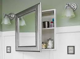 picture frame medicine cabinet recessed medicine cabinet with mirror and silver frame bathroom