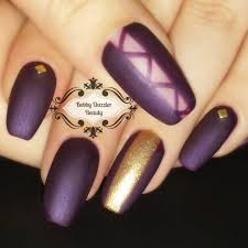 nail art matte purple nails gel nail polish youtube