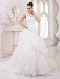 milanoo robe de mari e robe de mariée en organza ivoire avec pan latéral à traîne