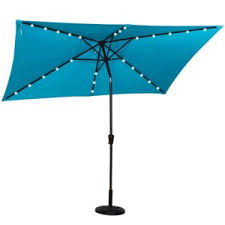 best rectangular patio umbrella with solar lights outsidemodern