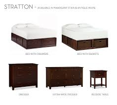 stratton storage platform bed with drawers pottery barn