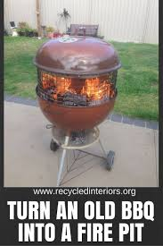 How To Make Firepit by How To Make An Upcycled Bbq Fire Pit Recycled Interiors
