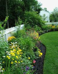 landscaping in front of fence christmas ideas home