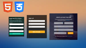 build a landing page design with html and css3