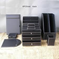 Office Desk Organizer Sets Wholesale Office Business Leather Desk Organizer Set File Drawer