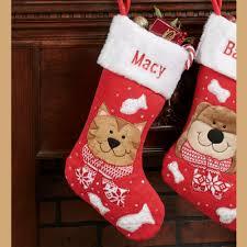 holiday pets fleece christmas stockings