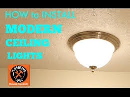 Replacing A Ceiling Light Fixture Modern Ceiling Lights How To Install By Home Repair Tutor