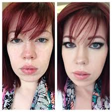 before and after makeup application done by our makeup artist