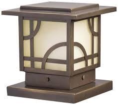 Bronze Landscape Lighting - kichler lighting 15474oz larkin estate post light 12 volt deck and