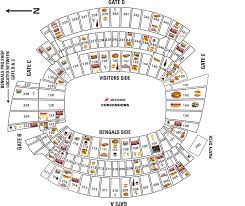 Brown Line Map Paul Brown Stadium Concessions Map Cincinnati Bengals