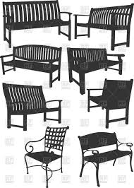 Garden Wood Chairs Collection Of Silhouettes Of Lawn Garden Furniture Wooden