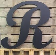 large wedding guest book wedding guest book wooden letter r large 30