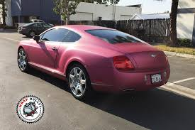 bentley continental matte white wrap bentley wrapped in avery metallic pink wrap bullys