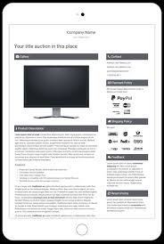 template ebay auction listing professional mobile responsive