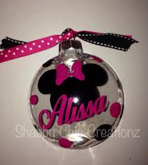 minnie mouse bow ornaments personalized name