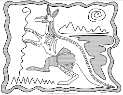 s mac u0027s x ray art kangaroo coloring page paper art pinterest