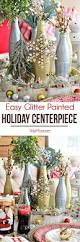 glitter painted holiday centerpiece tidymom